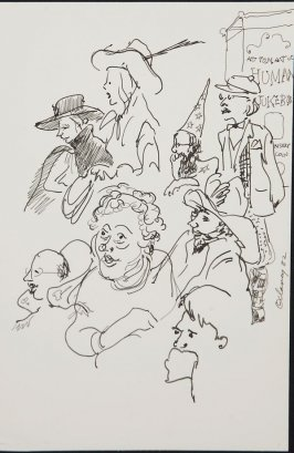 Illustration 5 in the book Sketchbook (Circus auditions, I)