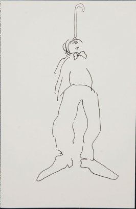 Untitled (Circus performer), Illustration 6 in the book Sketchbook (Circus auditions, I)