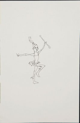Untitled (Circus performer), Illustration 9 in the book Sketchbook (Circus auditions, I)