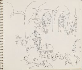 Untitled (Church interior), Illustration 1 in the book Sketchbook (Herman Gulack)