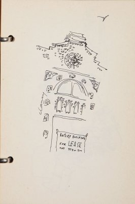 Seen from Lincoln Center, III, Illustration 27 in the book Sketchbook (New York City)