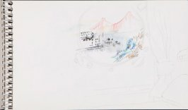 Untitled (View of the Golden Gate), Illustration 14 in the book Sketchbook (Jeremiah O'Brien, II)