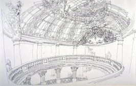 Grand Dome and Balcony, City of Paris Department Store