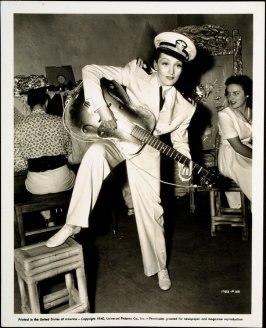 Untitled (Marlene Dietrich playing a guitar) (film still)