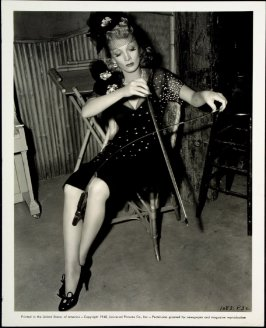 Untitled (Marlene Dietrich playing a saw) (film still)