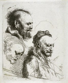 Three Studies of Old Men's Heads(Copy)