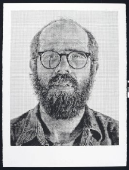 Self-Portrait, Black on White
