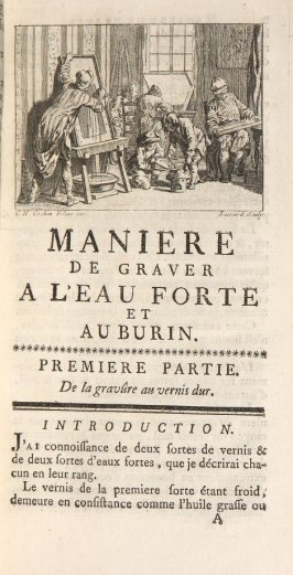 Headpiece for part 1 in the book De la manière de graver à l'eau forte et au burin …by Abraham Bosse (Paris: Charles-Antoine Jombert, 1758)