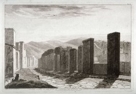 Street Scene in the City of Pompeii, on Passing the gates Leading to Rome