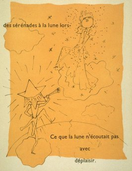 Quelquefois le soleil jouait de sérénades à la lune .., first image in the book, Drôle de ménage (Paris: Editions Paul Morihien, 1948)