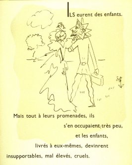 Ils eurent des enfants..., fifth image in the book, Drôle de ménage (Paris: Editions Paul Morihien, 1948)