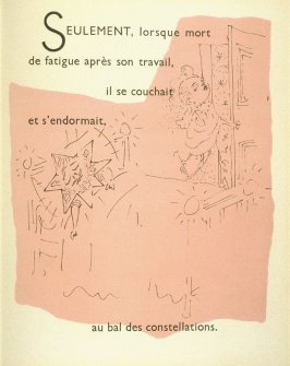 Seulement, lorsque mort de fatigue aprèsson travail,..., ninth image in the book, Drôle de ménage (Paris: Editions Paul Morihien, 1948)