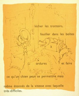 Hélas, ils apprennent aux enfants mille autres choses..., twenty-first image in the book, Drôle de ménage (Paris: Editions Paul Morihien, 1948)
