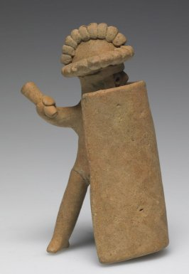 Standing Warrior Figure behind Shield