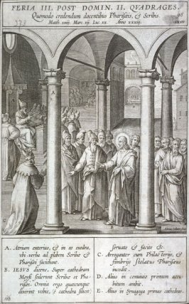 Christ's Speech Against Scribes and Pharisees, from Evangelicae Hisitoriae Imagines