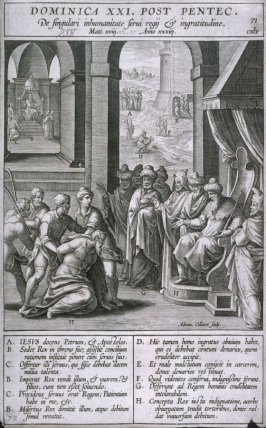 The Parable of the Unmerciful Servant, from Evangelicae Historiae Imagines