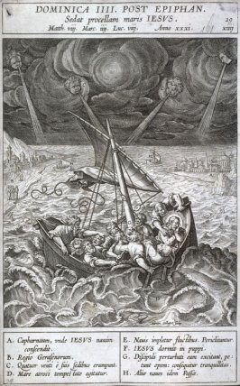 The Miracle of Chyrist on the Sea of Galilee, from Evangelicae Historiae Imagines