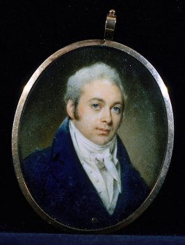 Medallion with portrait of a man