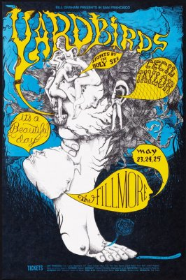 Yardbirds, It's a Beautiful Day, Cecil Taylor, May 23 - 25, Fillmore Auditorium
