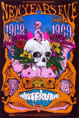 Grateful Dead, Quicksilver Messenger Service, It's a Beautiful Day, Santana, December 31, Winterland