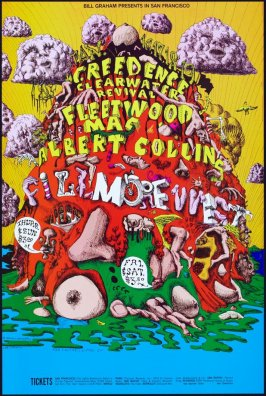 Creedence Clearwater Revival, Fleetwood Mac, Albert Collins, January 16 - 19, Fillmore West