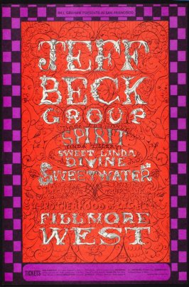 Jeff Beck Group, Spirit,  Linda Tillery, Sweet Linda Divine, Sweetwater, December 5 - 8, Fillmore West