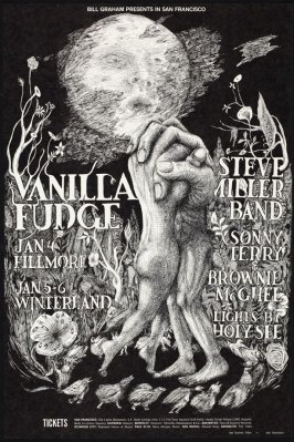 Vanilla Fudge, Steve Miller Band, Sonny Terry & Brownie McGhee, January 4, Fillmore Auditorium, January 5 & 6, Winterland