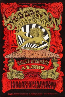 Jefferson Airplane, Ballet Afro-Haiti, A.B. Skhy, October 24 - 26, Fillmore West