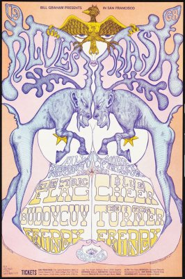 Electric Flag, Buddy Guy, Freddie King, July 9 - 11, Blue Cheer, Ike & Tina Turner, Freddie King, July 12 - 14, Fillmore Auditorium