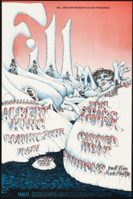 Albert King, Loading Zone, Rain, Ten Years After, Canned Heat, Don Hicks & His Hot Licks, June 25 - 30, Fillmore Auditorium