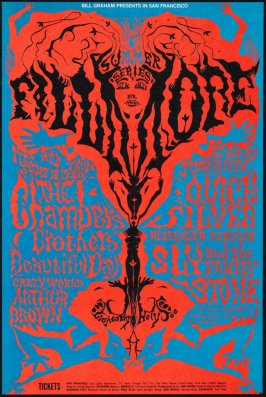 Chamber Brothers, Beautiful Day, Crazy World of Arthur Brown, Quicksilver Messenger Service, Sly & the Family Stone, June 18 - 23, Fillmore Auditorium