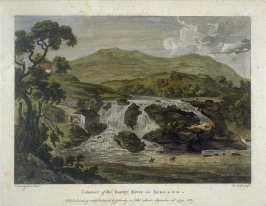 Cataract of the Bantry River in Ireland