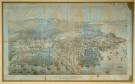 Bird's Eye View of San Francisco, 1852