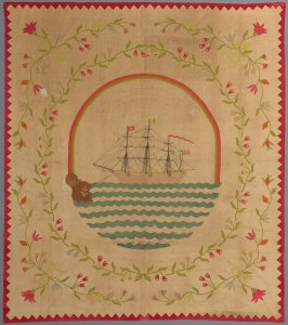"Quilt top: ""Ship of Life"" pattern"