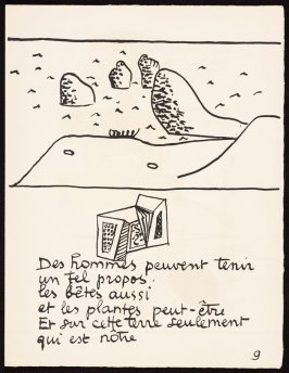 Untitled, pg. 9, in the book Le Poéme de l'angle droit by Edmond Jeanneret (Le Corbusier) (Paris: Tériade Éditeur, 1955)