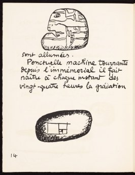 Untitled, pg. 14, in the book Le Poéme de l'angle droit by Edmond Jeanneret (Le Corbusier) (Paris: Tériade Éditeur, 1955)
