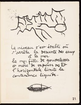 Untitled, pg. 21, in the book Le Poéme de l'angle droit by Edmond Jeanneret (Le Corbusier) (Paris: Tériade Éditeur, 1955)