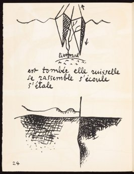 Untitled, pg. 24, in the book Le Poéme de l'angle droit by Edmond Jeanneret (Le Corbusier) (Paris: Tériade Éditeur, 1955)