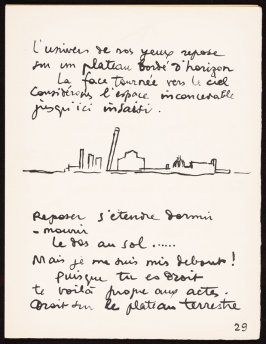 Untitled, pg. 29, in the book Le Poéme de l'angle droit by Edmond Jeanneret (Le Corbusier) (Paris: Tériade Éditeur, 1955)