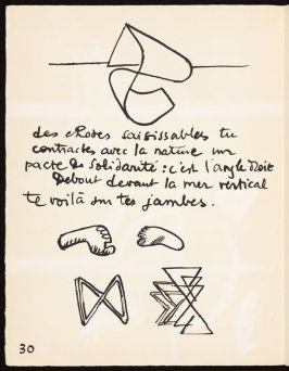 Untitled, pg. 30, in the book Le Poéme de l'angle droit by Edmond Jeanneret (Le Corbusier) (Paris: Tériade Éditeur, 1955)