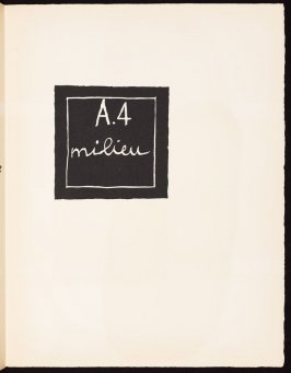 Untitled, pg. 33, in the book Le Poéme de l'angle droit by Edmond Jeanneret (Le Corbusier) (Paris: Tériade Éditeur, 1955)