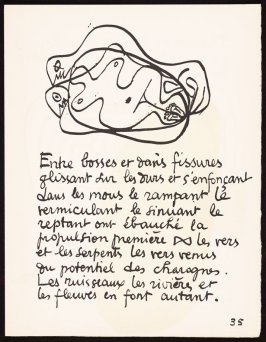 Untitled, pg. 35, in the book Le Poéme de l'angle droit by Edmond Jeanneret (Le Corbusier) (Paris: Tériade Éditeur, 1955)