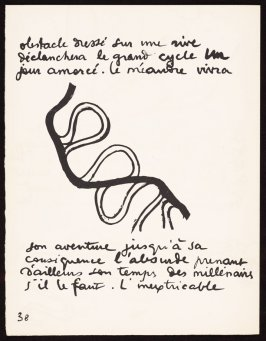 Untitled, pg. 38, in the book Le Poéme de l'angle droit by Edmond Jeanneret (Le Corbusier) (Paris: Tériade Éditeur, 1955)