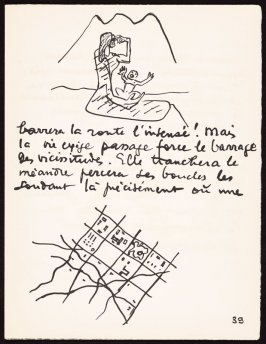 Untitled, pg. 39, in the book Le Poéme de l'angle droit by Edmond Jeanneret (Le Corbusier) (Paris: Tériade Éditeur, 1955)