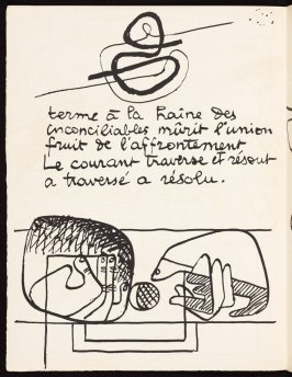 Untitled, pg. 46, in the book Le Poéme de l'angle droit by Edmond Jeanneret (Le Corbusier) (Paris: Tériade Éditeur, 1955)