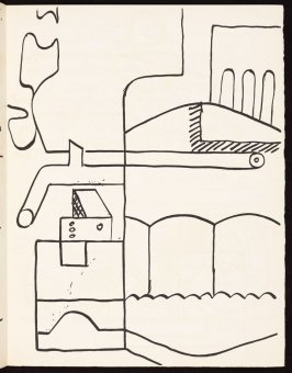 Untitled, pg. 47, in the book Le Poéme de l'angle droit by Edmond Jeanneret (Le Corbusier) (Paris: Tériade Éditeur, 1955)