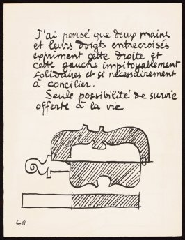 Untitled, pg. 48, in the book Le Poéme de l'angle droit by Edmond Jeanneret (Le Corbusier) (Paris: Tériade Éditeur, 1955)