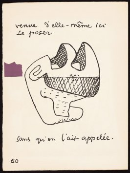 Untitled, pg. 60, in the book Le Poéme de l'angle droit by Edmond Jeanneret (Le Corbusier) (Paris: Tériade Éditeur, 1955)