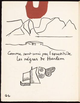 Untitled, pg. 64, in the book Le Poéme de l'angle droit by Edmond Jeanneret (Le Corbusier) (Paris: Tériade Éditeur, 1955)