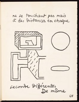 Untitled, pg. 65, in the book Le Poéme de l'angle droit by Edmond Jeanneret (Le Corbusier) (Paris: Tériade Éditeur, 1955)